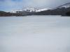 Patagonie:  Zamrzlé jezero pod horou Fitz Roy