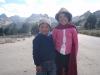 Indické děti poblíž laguny Quilotoa