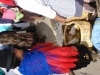 Prodej morčat (Cuyi) na indiánkém trhu v Saqusili