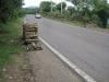 Vozík na sběr dřeva. Místní s ním jezdí po silnici neuvěřitelnou rychlostí :)