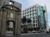 Montevideo: brána města Puerta de la Ciudadela a nová vládní budova