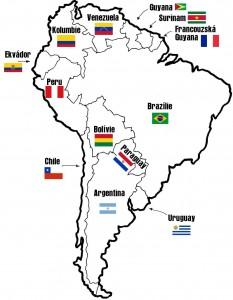 Jižní Amerika: Státy a Vlajky