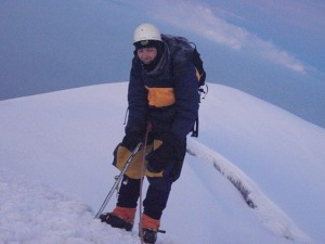 Na vrcholu vulkánu Chimborazo