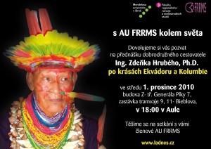 Pozvánka na přednášku: Po krásách Ekvádoru a Kolumbie